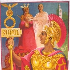 Carteles de Semana Santa: CARTEL SEMANA SANTA SEVILLA 1951 , ILUSTRADO POR PABLO SEBASTIAN , LITOGRAFIA A. Lote 26864567
