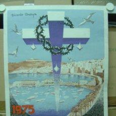 Carteles de Semana Santa: CEUTA - SEMANA SANTA - AÑO 1975 - LITOGRAFIA. Lote 102814372