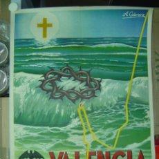Carteles de Semana Santa: CARTEL SEMANA SANTA MARINERA - VALENCIA - LITOGRAFIA - AÑO 1961. Lote 102819135
