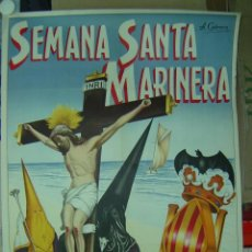 Carteles de Semana Santa: CARTEL SEMANA SANTA MARINERA - VALENCIA - LITOGRAFIA - AÑO 1957. Lote 102819846