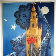 Carteles de Semana Santa: CARTEL SEVILLA SEMANA SANTA 1955 , MARISCAL, LITOGRAFIA . Lote 24915064
