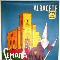 Carteles de Semana Santa: CARTEL SEMANA SANTA DE ALBACETE 1974 ( LUCI ), LITOGRAFIA. Lote 25579530