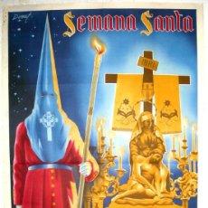 Carteles de Semana Santa: CARTEL CREVILLENTE, ALICANTE, SEMANA SANTA 1945 , ( DONAT ) LITOGRAFIA. Lote 25579513