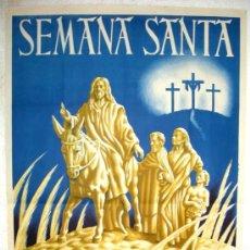 Carteles de Semana Santa: CARTEL CREVILLENTE ALICANTE , SEMANA SANTA 1948, LITOGRAFIA. Lote 25579511