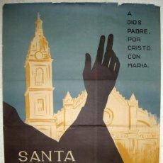 Carteles de Semana Santa: CARTEL JATIVA VALENCIA SEMANA SANTA 1964 ( JOSE GRAU ) , LITOGRAFIA. Lote 25579531