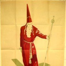 Carteles de Semana Santa: CARTEL MURCIA SEMANA SANTA 1962 , LITOGRAFIA. Lote 25579536