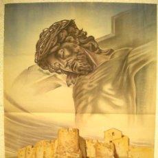 Carteles de Semana Santa: CARTEL TORTOSA , TARRAGONA, SEMANA SANTA 1951 , LITOGRAFIA. Lote 25579537
