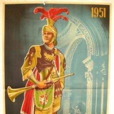 Carteles de Semana Santa: CARTEL CARTAGENA , SEMANA SANTA 1951 ( ANTULIO ) LITOGRAFIA. Lote 26047624