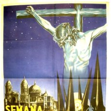 Carteles de Semana Santa: CARTEL CADIZ , SEMANA SANTA 1945 ( B.D. HOLLOS ) , LITOGRAFIA. Lote 25905515