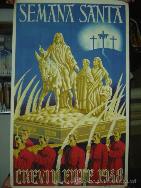 CREVILLENTE (ALICANTE) - SEMANA SANTA - 1948 (Coleccionismo - Carteles Gran Formato - Carteles Semana Santa)