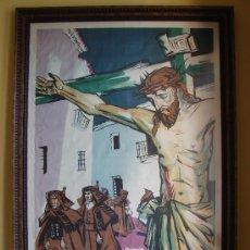 Carteles de Semana Santa: CARTEL ANTIGUO SEMANA SANTA ZAMORA AÑO 1957.CASTILVIEJO. Lote 26795856