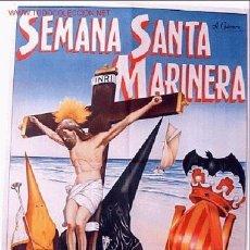 Carteles de Semana Santa: CARTEL SEMANA SANTA MARINERA VALENCIA 1957. Lote 25905514