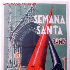 Carteles de Semana Santa: CARTEL SEMANA SANTA DE GANDIA 1957 , VALENCIA. Lote 26047639
