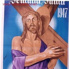 Carteles de Semana Santa: CARTEL CREVILLENTE SEMANA SANTA DE CREVILLENTE 1947 , ALICANTE. Lote 26047641