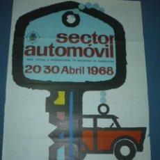 Carteles de Semana Santa: CARTEL SECTOR AUTOMOVIL FERIA DE MUESTRAS BARCELONA AÑO 1968 TAMAÑO 1000X700. Lote 10704467