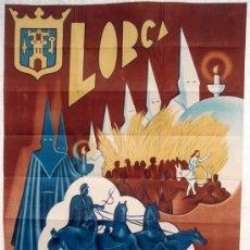 Carteles de Semana Santa: CARTEL LORCA MURCIA SEMANA SANTA 1944 GRANDE LITOGRAFIA ORIGINAL. Lote 25579532