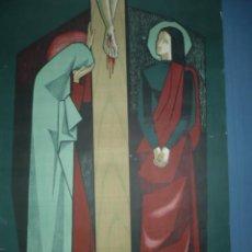 Carteles de Semana Santa: CARTEL DE LA PROCESION DEL VIERNES SANTO EN BARCELONA AÑO 1956 TAMAÑO 1000X700. Lote 10960405