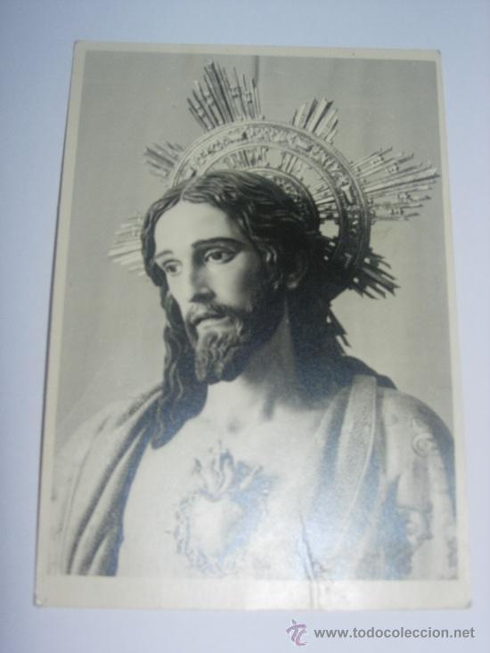 FOTOGRAFIA ANTIGUA EN BLANCO Y NEGRO. IMAGEN DEL CORAZON DE JESUS (Coleccionismo - Carteles Gran Formato - Carteles Semana Santa)