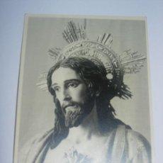 Carteles de Semana Santa: FOTOGRAFIA ANTIGUA EN BLANCO Y NEGRO. IMAGEN DEL CORAZON DE JESUS. Lote 41711478