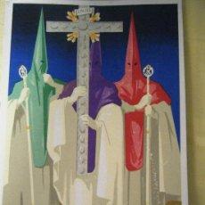 Carteles de Semana Santa: CARTEL DE LA SEMANA SANTA DE MÁLAGA DE 1945 (PEQUEÑO FORMATO). Lote 27447053