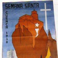 Carteles de Semana Santa: CUENCA. SEMANA SANTA. EDITADO POR LA JUNTA LOCAL DEL FESTEJOS. ILUSTRADOR YEBRA. 1958.. Lote 24519280