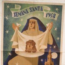 Carteles de Semana Santa: CARTEL SEMANA SANTA , SEVILLA 1948 ,LITOGRAFIA, ILUSTRADOR JUAN MIGUEL SANCHEZ. Lote 24915067