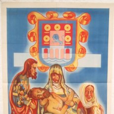 Carteles de Semana Santa: CARTEL SEMANA SANTA , VIVERO 1948 , LUGO GALICIA ,LITOGRAFIA, ILUSTRADOR MONCHO - VIVERO. Lote 25579515