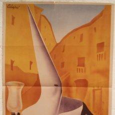 Carteles de Semana Santa: CARTEL SEMANA SANTA , CUENCA 1947 ,LITOGRAFIA, ILUSTRADOR CABAÑAS. Lote 150742580