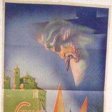 Carteles de Semana Santa: CARTEL SEMANA SANTA , CUENCA 1943 , LITOGRAFIA, ILUSTRADOR ALVARO. Lote 25579517