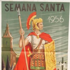 Carteles de Semana Santa: CARTEL SEMANA SANTA ,CIUDAD REAL 1956 , LITOGRAFIA, ILUSTRADOR NIETO SANZ. Lote 25579524