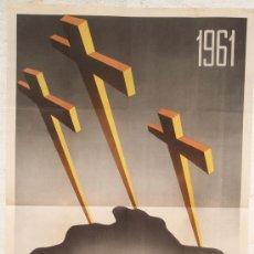 Carteles de Semana Santa: CARTEL SEMANA SANTA , CACERES 1961 , LITOGRAFIA, ILUSTRADOR L. BREÑA. Lote 25905524