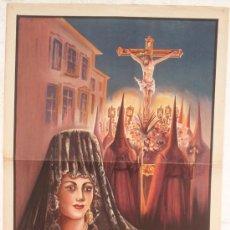 Carteles de Semana Santa: CARTEL SEMANA SANTA , JUMILLA MURCIA 1949 , LITOGRAFIA, ILUSTRADOR MAÑAS. Lote 25905552