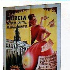 Carteles de Semana Santa: MURCIA, SEMANA SANTA Y FIESTAS DE LA PRIMAVERA 1945.PROCESIÓN, CORRIDAS DE TOROS. DIEZ ILUSTADOR.. Lote 25431886