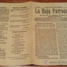 Carteles de Semana Santa: LA HOJA PARROQUIAL. IMP. LA VERDAD. PLAZA DE LOS APOSTOLES. MURCIA. 1923. Lote 22363865