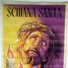 Carteles de Semana Santa: CARTEL GANDIA , VALENCIA , 1955 , SEMANA SANTA, ORIGINAL , LITOGRAFIA ,POR LOPEZ Y PABON. Lote 25927813