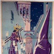 Carteles de Semana Santa: CARTEL ARCOS DE LA FRONTERA 1950, CADIZ , SEMANA SANTA , ILUSTRADOR MIGUEL CASTRO. Lote 26047613