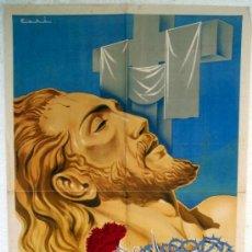 Carteles de Semana Santa: CARTEL CREVILLENTE 1953 , ALICANTE, SEMANA SANTA , ILUSTRADOR ZORI ,. Lote 26047615