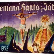 Carteles de Semana Santa: CARTEL JATIVA 1952 , VALENCIA, SEMANA SANTA , ILUSTRADOR A. PERIS. Lote 26047616