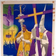 Carteles de Semana Santa: CARTEL MALAGA 1959 , SEMANA SANTA , ILUSTRADOR L. RAMOS ROSA. Lote 26047617