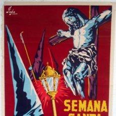 Carteles de Semana Santa: CARTEL BADAJOZ 1960 , SEMANA SANTA , ILUSTRADOR JAFA ,. Lote 26047619