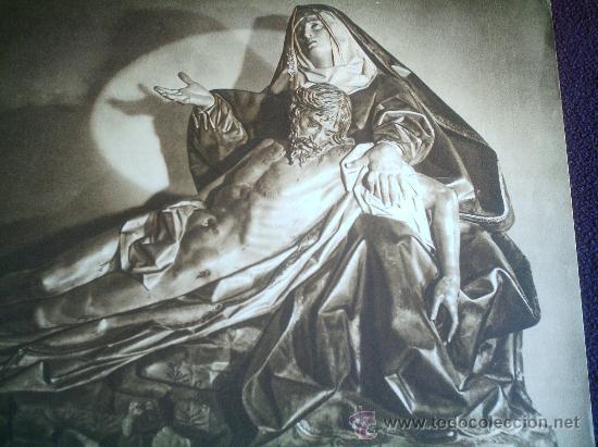 HUECOGRABADO - IMAGEN DE LA PIEDAD - . FOURNIER. VITORIA - ANTIGUO - SEMANA SANTA VALLADOLID (Coleccionismo - Carteles Gran Formato - Carteles Semana Santa)