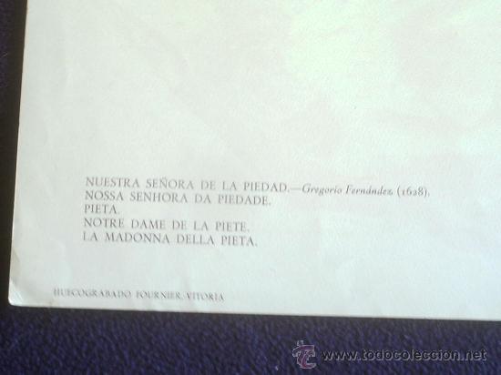 Carteles de Semana Santa: HUECOGRABADO - IMAGEN DE LA PIEDAD - . FOURNIER. VITORIA - ANTIGUO - SEMANA SANTA VALLADOLID - Foto 3 - 50069455