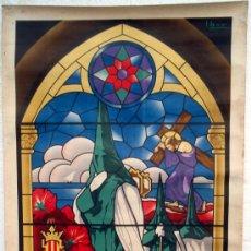 Carteles de Semana Santa: CARTEL VALENCIA, 1948 , SEMANA SANTA , LITOGRAFIA ,ILUSTRADOR IBOR. Lote 26047636