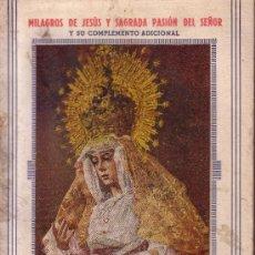 Carteles de Semana Santa: MACARENA - PROGRAMA DE SEMANA SANTA EN SEVILLA 1944 - INCLUYE 10 FOTOGRAFIAS EN BLANCO Y NEGRO. Lote 27639730