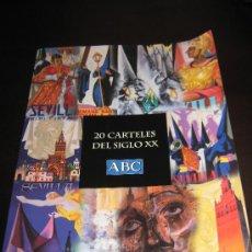 Carteles de Semana Santa: COLECCION COMPLETA DE 20 CARTELES SEMANA SANTA SEVILLA DEL SIGLO XX EDITA ABC - CARPETA ORIGINAL. Lote 31296298