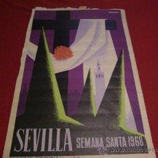 Carteles de Semana Santa: SEMANA SANTA DE SEVILLA. CARTEL DEL AÑO 1968.. Lote 24894714