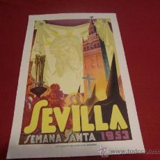 Carteles de Semana Santa: SEMANA SANTA DE SEVILLA. CARTEL DEL AÑO 1953.. Lote 24894760