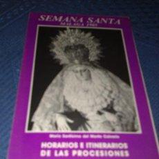 Carteles de Semana Santa: ITINERARIO SEMANA SANTA MALAGA 1985. Lote 25285694