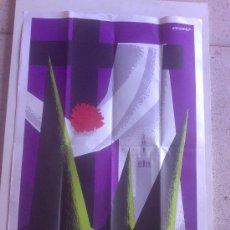 Carteles de Semana Santa: CARTEL SEMANA SANTA EN SEVILLA 1968 - 67X44CM -. Lote 26634920