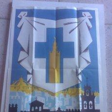 Carteles de Semana Santa: CARTEL SEMANA SANTA EN SEVILLA 1963 - 67X44CM -. Lote 26634958